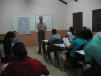 Len teaching