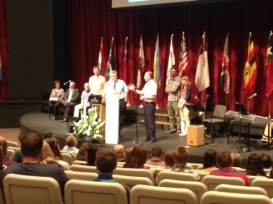June 2015. Len sharing about our ministry at WGM's International Celebration of Mission.