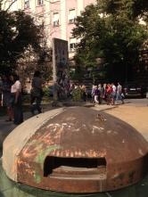 Communist era bunker and piece of Berlin wall