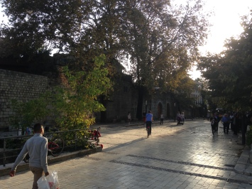 """Toptani Road by what's left of Tirana """"castle"""""""
