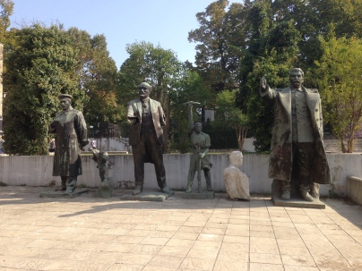 Statues of Communist leaders (can you recognize Stalin and Lenin?)
